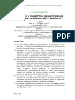 Ley de la Empresa Pública Nacional Estratégica de Yacimientos de Litio Bolivianos - YLB