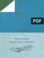 Vickers Valiant Pilot Notes
