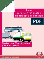 Sector de transportes GUIA PARA LA PREVENCION DE RIESGOS LABORALES