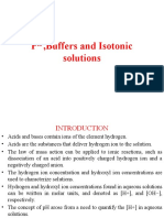 PH ,Buffers and Isotonic solutions