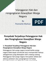 Pertemuan Ketiga Bab 1 Kasus Pelanggaran Hak Dan Pengingkaran Kewajiban Warga Negara