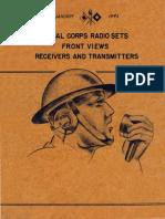 Signal Corps Radio Sets 1943