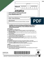 P3 specimen paper (QP)