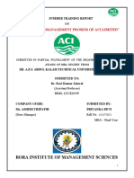 SUPPLY CHAIN MANAGEMENT PROSESS OF ACI LIMITED