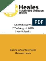 Scientific News 2nd of August 2020