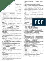 SUMMATIVE TEST- P.E. HEALTH