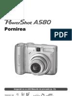 Manual Canon PowerShot A580