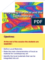 Lesson 10-Integrating the local and the contemporary