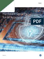 Hardware Security for AI Accelerators