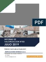 INFORME DE VALORIZACION N03