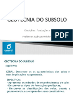 FUNDAÇÕES - AULA 03 - GEOTECNIA DO SUBSOLO