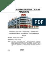 Derecho Niño y Adolescente- Foro UPA 20JUL2020