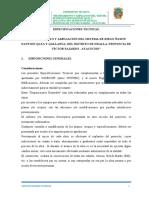 2.2. Especificaciones Técnicas Hualla