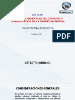 CATASTRO Y SANEAMIENTO
