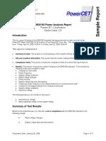 Sample_EN50160 Power Analysis Report