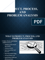 Product, Process, and Problem Analysis Quality System