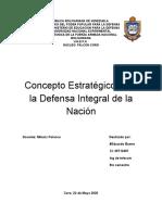 CONCEPTO ESTRATEGICO DE DEFENSA INTEGRAL