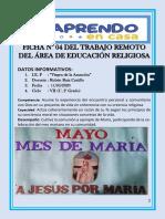 sesion 4 semana 6  ciclo VI Practicamos la comunión a Ejemplo de María