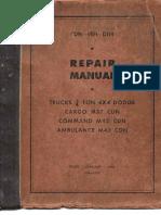 CDN-VEH-D114 Repair Manual Trucks 3-4 Ton 4x4 Dodge Cargo M37 CDN Commando M42 CDN Ambulance M43 CDN 1954