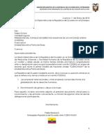 CODEHU - Posicion Oficial Ecuador  11-02-2015