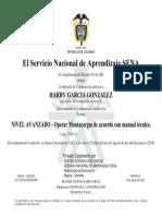 certificado Harry García González