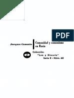 J. Camatte - Comunidad y comunismo en Rusia .pdf