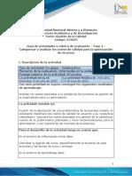 Guia de actividades y rubrica de evaluación - Fase 4 - Categorizar y analizar los costos de calidad para la optimización de recursos