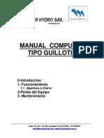 MANUAL COMPUERTA TIPO GUILLOTINA