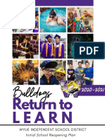 Bulldogs Return to Learn 2020-2021 July 29