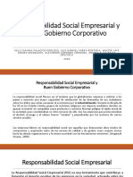 Responsabilidad Social Empresarial y Buen Gobierno Corporativo