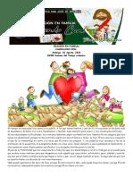 26  ORACION EN FAMILIA CAMINANDO CON... Domingo XVIII SEMANA TO 02-08-2020