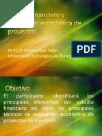 Estudio financiero y evaluación económica de proyectos