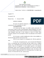 Jurisprudencia 2020- Obras Sociales- A. M. C. c OSUTHTGRA s Sumarísimo de Salud