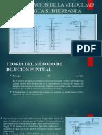 DETERMINACION DE LA VELOCIDAD DEL AGUA SUBTERRANEA.pptx