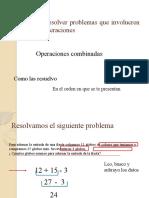 Calcular y resolver problemas que involucren las cuatro