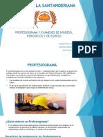 PROFESIOGRAMA Y EXAMENES DE INGRESO, PERIODICOS Y