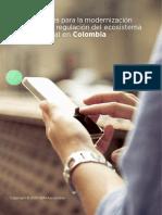 Claves modernización regulación ecosistema digital Colombia