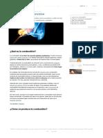 Combustión - Concepto, reacción, etapas, tipos y ejemplos