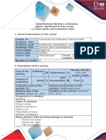 Activity guide and evaluation rubric - Assignment 6 - Speaking assignment