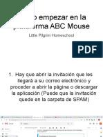 Cómo empezar en la plataforma ABC Mouse
