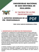 PRÁCTICAS PRE PROFESIONALES 2020