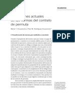 Acquarone-Acquarone. Aplicaciones del contrato de permuta