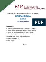 Fisiopatología S5 Diabetes Mellitus - mapa conceptual