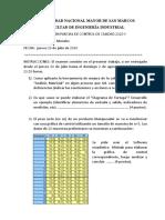 Examen de Control de Calidad 2020 I