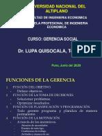 GERENCIA SOCIAL 2020-I - Semana 4