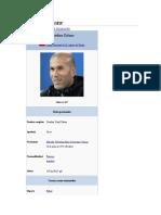 Biografia Zinedine Zidane