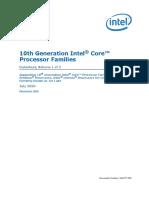 10th Gen Core Families Datasheet Vol 1 Datasheet