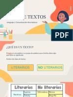tipos de textos no literarios