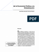 1.4 I CRITICA DE LA ECONOMIA POLITICA DE LA GLOBALIZACION