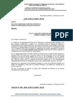 OFICIO AGRICULTURA CERTIFICADO DE POSESION AREA DE REFORESTACION -  2016